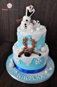 Ledové králoství dort