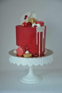 dort se stékanou čokoládou