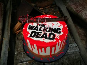 walking death cake