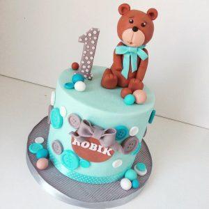 Narozeninový dort medvěd