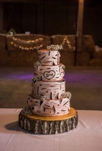 Svatební dort vzor dřevo
