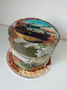 vojenský dort